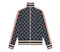 Jacke aus Baumwolle mit GG Jacquard