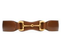 Gürtel aus Leder mit Horsebit