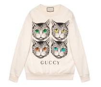 Übergroßer Pullover mit Mystic Cat-Print