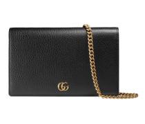 GG Marmont Mini-Tasche aus Leder mit Kette