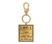 Schlüsselanhänger mit dem Vintage Gucci Logo