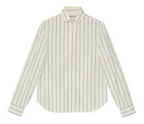 Hemd aus gestreifter Baumwolle mit Doppel G