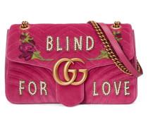 Mittelgroße GG Marmont Tasche aus Samt