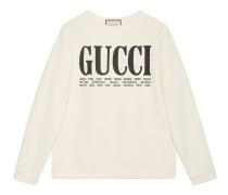 Pullover aus Baumwolle mit GucciCities-Print