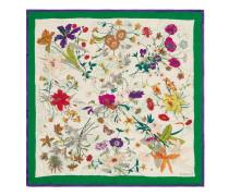 Tuch aus Seide mit FloraGothic-Print