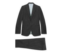Heritage Anzug aus Wolle mit Nadelstreifen