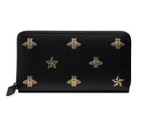 Bee Star Brieftasche mit Rundumreißverschluss aus Leder