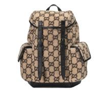 Kleiner Rucksack aus Wolle mit GG Motiv