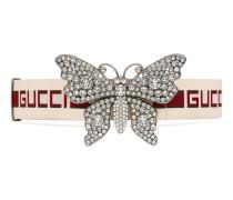 Gürtel mit GucciStreifen und Schmetterling