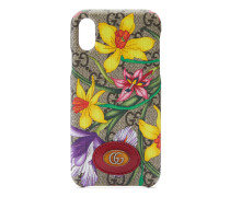 Ophidia GG iPhone X/XS-Hülle mit Flora-Print
