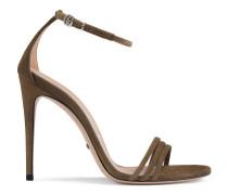 Sandale aus Wildleder