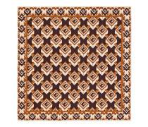 Einstecktuch aus Seide mit Geometrischer G Print