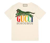 T-Shirt mit Gucci Cities und Tiger