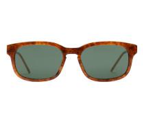Sonnenbrille mit rechteckigem Azetatrahmen