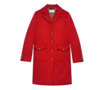 Mantel aus Wolle mit Doppel G