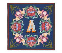 Schal aus Seide mit Buchstaben-Print