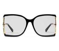 Eckige Brille aus Azetat und Metall