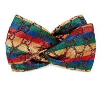 Stirnband aus GG Lurex mit Regenbogen-Streifen