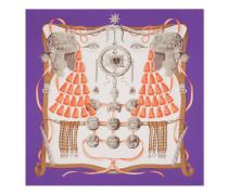 Halstuch aus Seide mit Helm-Print