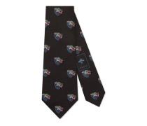 Krawatte aus Seide mit Wolf-Muster