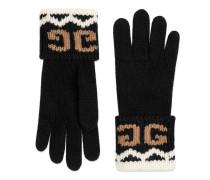 Handschuhe aus Wolle mit gespiegeltem GG