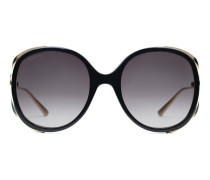 Sonnenbrille mit rundem, gespritztem Rahmen