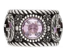 Ring aus Silber mit GG und Blumen