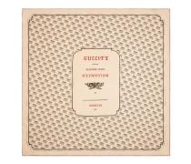 Halstuch aus Seide mit Gucci Stamp-Druck