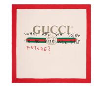 Schal aus Seide mit Gucci Coco Capitan-Logo