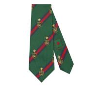 Krawatte aus Seide mit Web und Wappen
