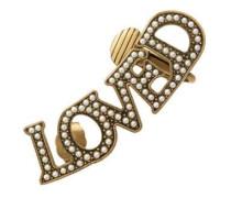 Einzelner Ohrring mit Loved-Anhänger mit Perlen