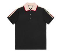 Poloshirt aus Baumwolle mit Streifen
