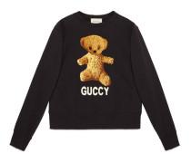 Pullover aus Baumwolle mit Teddybär