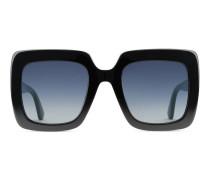 Sonnenbrille mit quadratischem Rahmen aus Acetat
