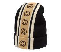 Mütze aus Wolle mit GG Streifen