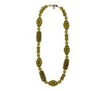 Perlenkette aus Harz mit Blumen und Drachen