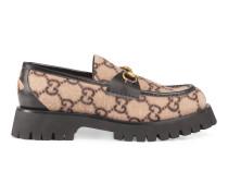 Loafer aus Wolle mit GG Motiv und Horsebit