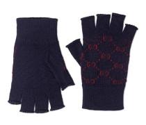 Fingerlose Handschuhe aus Alpakawolle mit GG
