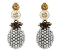 Ananas-Ohrringe mit Kristallen