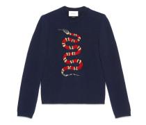 Pullover aus Wolljacquard mit Königsnatter