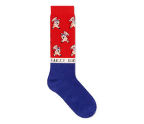 Socken aus Ferkel-Jacquard