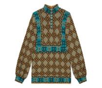Kleid mit geometrischem Blumen-Muster und GG