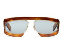 Sonnenbrille mit rechteckigem Rahmen aus Acetat