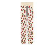 Strumpfhose mit GucciStrawberry-Print