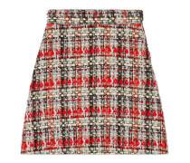 A-Linien-Rock aus mehrfarbigem Tweed