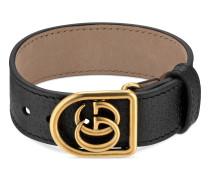Armband aus Leder mit Doppel G