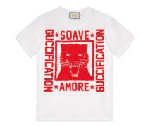 """Übergroßer T-Shirt mit """"Soave Amore Guccification"""""""