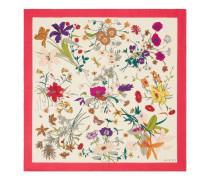 Tuch aus Seide mit Flora Gothic-Print