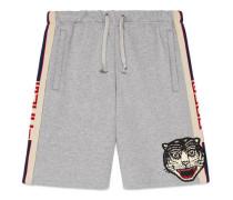 Shorts aus Baumwolle mit Gucci Streifen