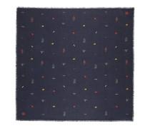 Halstuch aus Baumwolle und Modal mit Stickerei